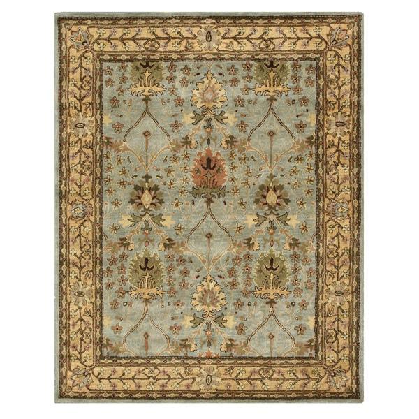 "Hand-tufted Wool Blue Traditional Oriental Morris Rug (7'9 x 9'9) - 7'9"" x 9'9"""