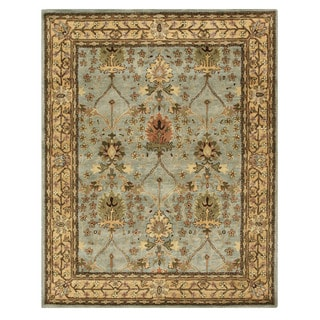 Hand-tufted Wool Blue Traditional Oriental Morris Rug (7'9 x 9'9)