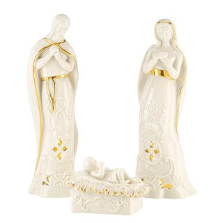 Lenox Nativity Holy Family Lighted Figurines