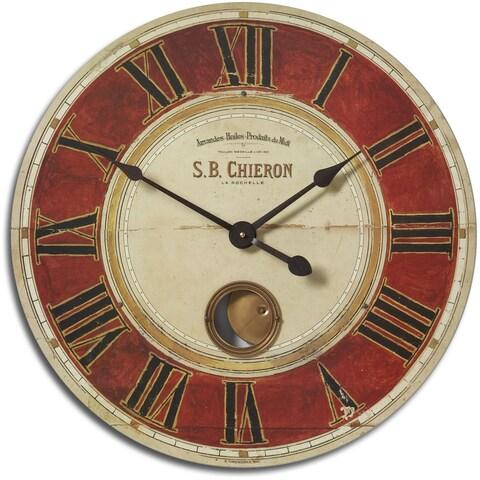 Uttermost Chieron Antique Brass 23-Inch Wall Clock