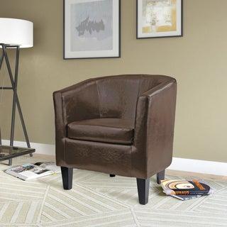 Copper Grove Arisaig Bonded Leather Tub Chair