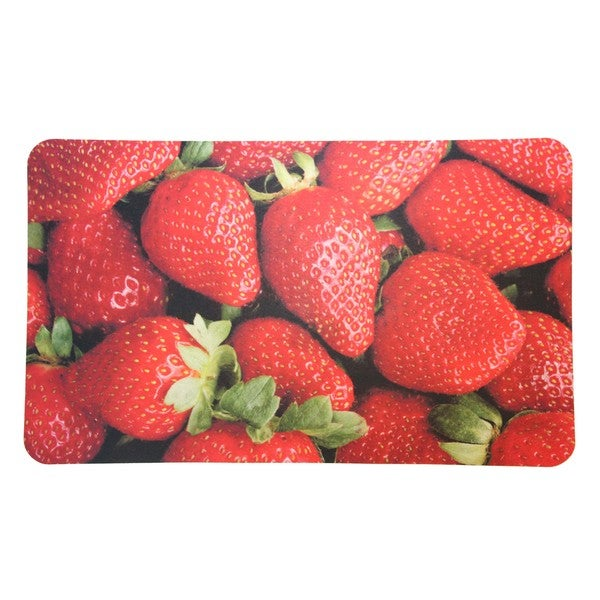 "somette strawberry cushioned kitchen floor mat (18"" x 30"") - free"