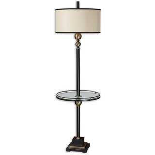 Uttermost Revolution 1-light Rustic Black Floor Lamp