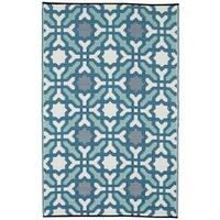 Handmade Indo Seville Multicolor Blue Geometric Area Rug (6' x 9') - 6' x 9'
