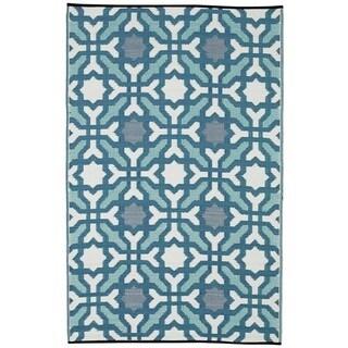 Handmade Indo Seville Multicolor Blue Geometric Area Rug - 6' x 9'