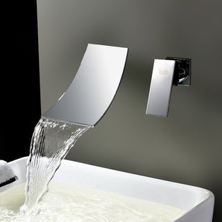 Kokols Chrome Wall Mount Waterfall Tub Faucet
