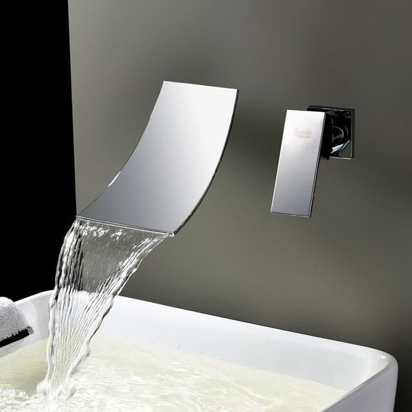 Kokols Chrome Wall Mount Waterfall Tub Faucet