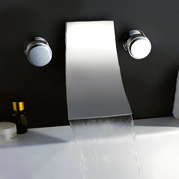 Shop Kokols Chrome Wall Mount Waterfall Tub Faucet Free Shipping