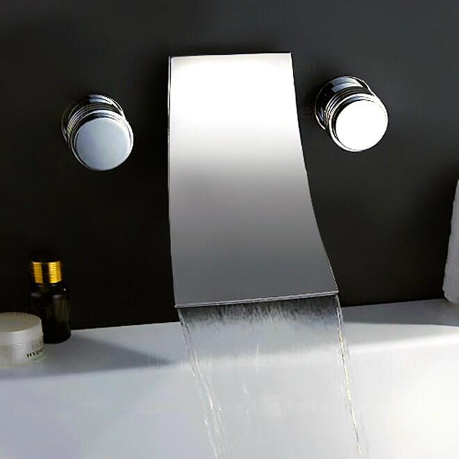Kokols Chrome Wall-mount Waterfall (Blue) Tub Faucet (As ...