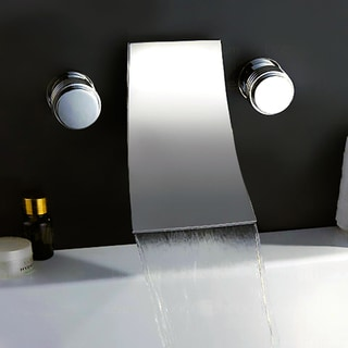 KOKOLS Chrome Wall-mount Waterfall Tub Faucet