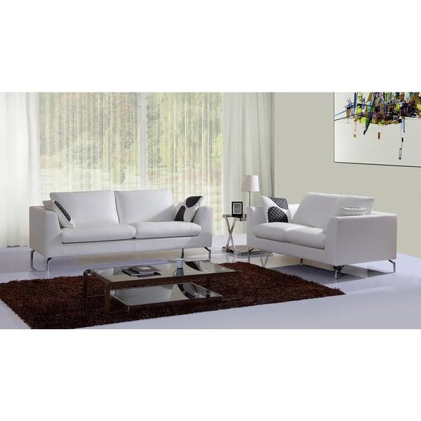 Stanley Leather Sofa Bangalore: Shop Stanley White Sofa And Loveseat Set