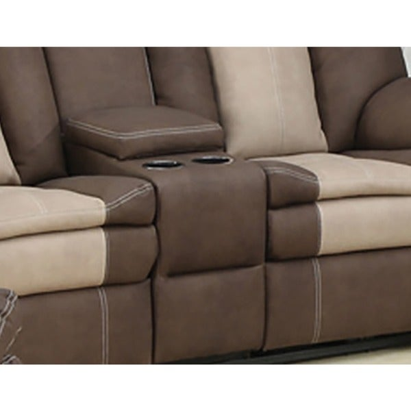 carson dual reclining loveseat with storage console free shipping today