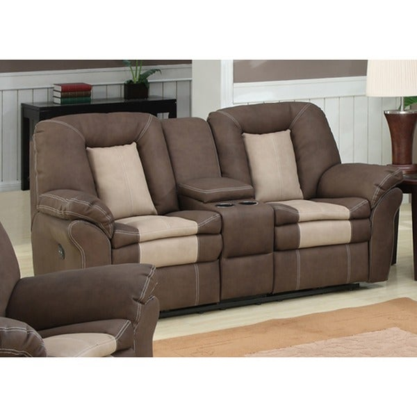 Shop Carson Dual Reclining Loveseat With Storage Console