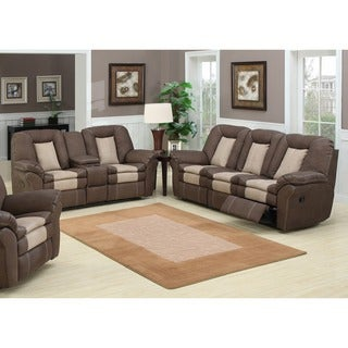 Carson 2-piece Dual Reclining Sofa with Storage Console and Loveseat Set