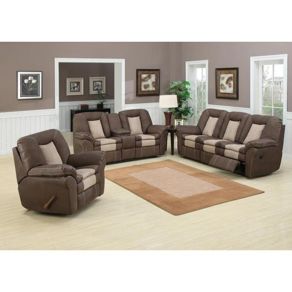 Carson 3 piece living room set with 5 recliners free for Living room 5 piece sets