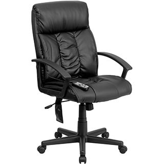 Offex High Back Massaging Black Leather Executive Chair