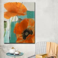Ready2HangArt 'Painted Petals XXXIII' Canvas Wall Art - Multi-color