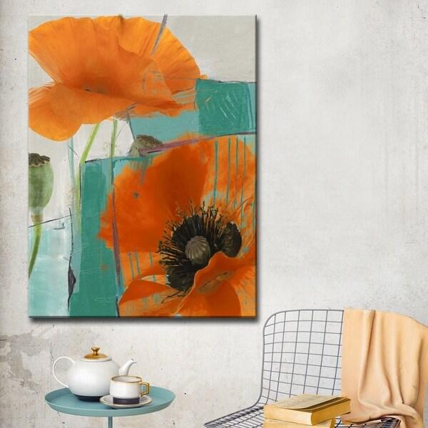 Ready2HangArt 'Painted Petals XXXIII' Canvas Wall Art - Multi-color