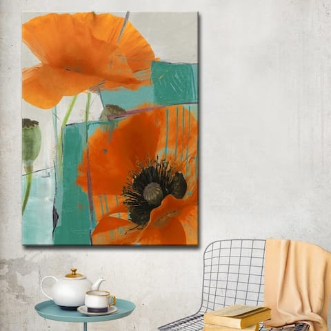 Ready2HangArt 'Painted Petals XXXIII' Floral Canvas Wall Art