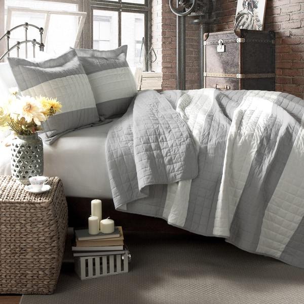 Lush Decor Berlin Stripe Quilt Set