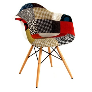 Hans Andersen Home Mid-Century Style Patchwork Arm Chair