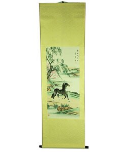 Riverside Stallion Scroll (China)