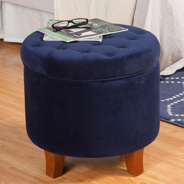 Attrayant Porch U0026amp; Den Los Feliz Rowena Large Button Tufted Round Storage Ottoman
