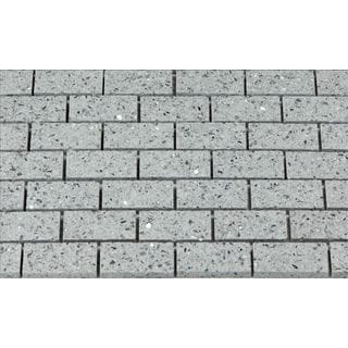 Martini Mosaic 11.75 x 11.75 Essen Pacific Grey Quartz Tiles (Set of 6)