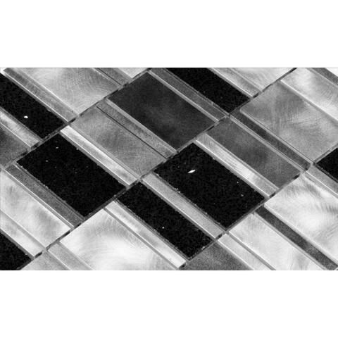 Martini Mosaic 11.5 x 11.5 Citta Silver Lava Tiles (Set of 6)