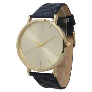 Olivia Pratt Women's Quilted Strap Watch