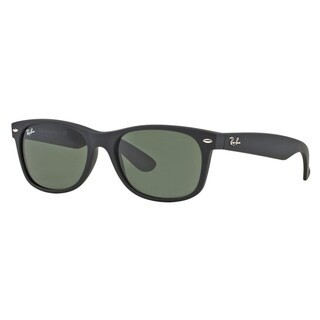 Ray Ban Wayfarer RB2132 622 55-18 Unisex Black Frame Green Lens Sunglasses