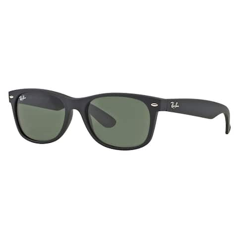 Ray Ban Wayfarer RB2132 622 55-18 Unisex Black Frame Green Lens Sunglasses