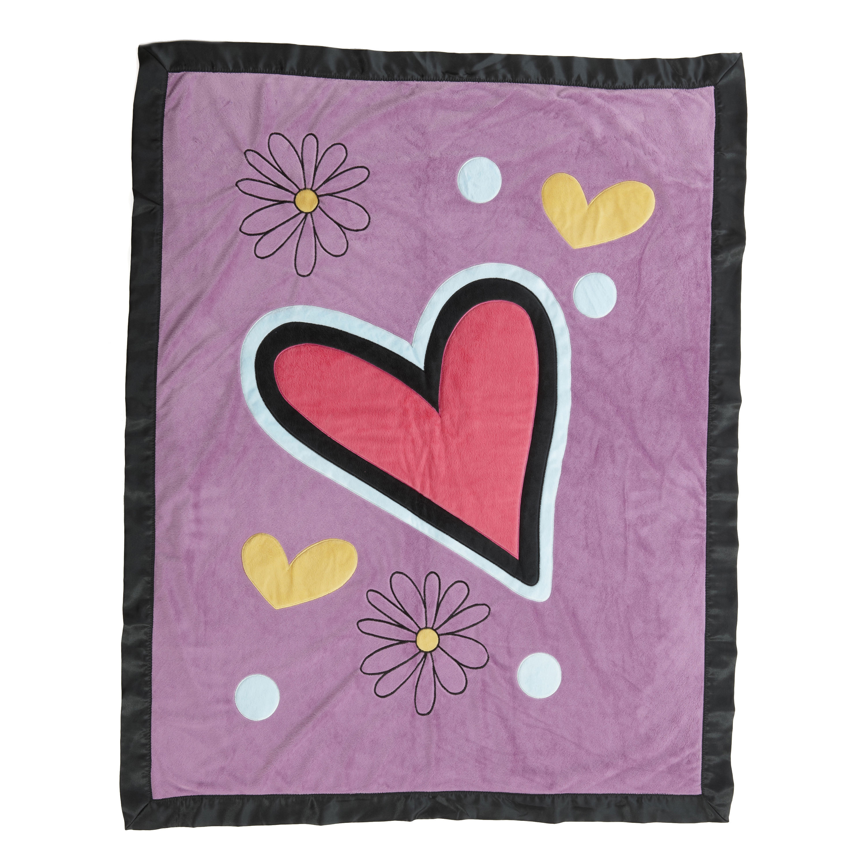 One Grace Place Sassy Shaylee Purple Toddler Quilt (Sassy...