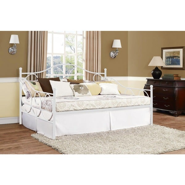 Shop Dhp Victoria Full Size White Metal Daybed On Sale