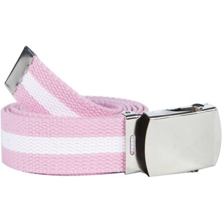 Unisex Striped Canvas Web Belt (Option: Pink and White Stripe)
