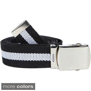 Unisex Striped Canvas Web Belt|https://ak1.ostkcdn.com/images/products/9724333/P16898354.jpg?impolicy=medium