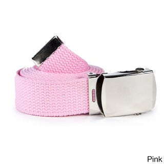 Unisex Solid Canvas Web Belt (2 options available)