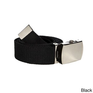 Unisex Solid Canvas Web Belt