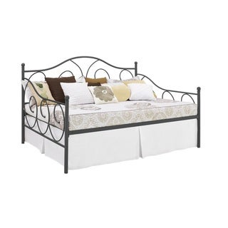 DHP Victoria Full Size Pewter Metal Daybed