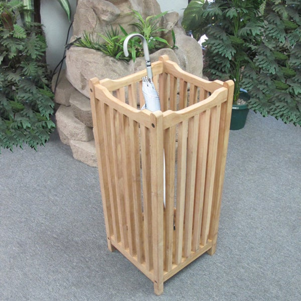 Handmade D-Art Teak Wood Visalia Umbrella Stand (Indonesia)