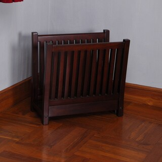 D-Art Amanda Mahogany Wood Magazine Rack, Handmade in Indonesia