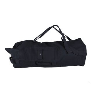 StanSport Double Padded Strap Black Canvas Duffel Bag