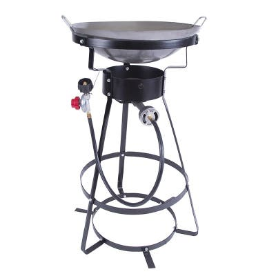 """Stansport Camp Stove with Carbon Steel Wok - Black - 21.5"""" L x 21.5"""" W x 33"""" H"""