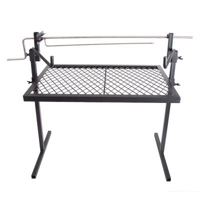 """Stansport Heavy-Duty Rotisserie and Spit Camp Grill - Black - 24"""" L x 16"""" W x 44"""" H"""