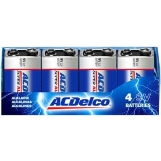 ACDelco Alkaline Recloseable Pack 9V 4 Pack