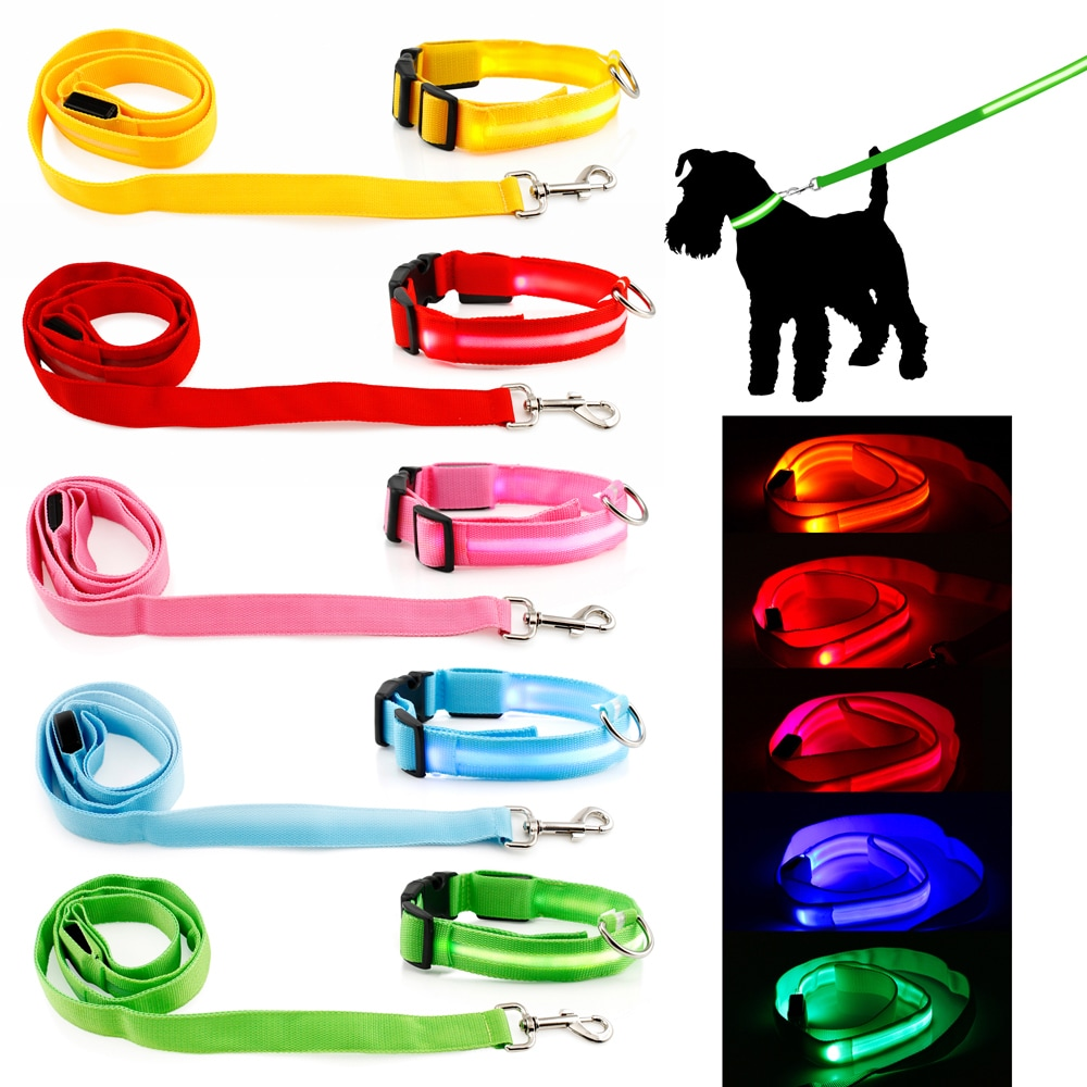 Gearonic LED Night Safety Pet Nylon Neck Adjustable Colla...
