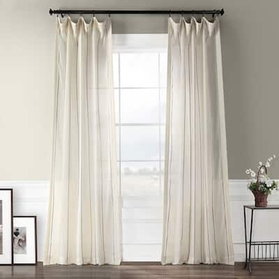 Exclusive Fabrics Aruba Striped Linen Sheer Curtain Panel
