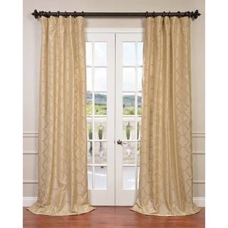 Exclusive Fabrics Marakesh Flocked Faux Silk Taffeta Curtain Panel
