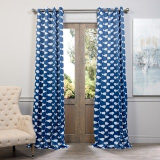 Exclusive Fabrics Migaloo Whale Grommet Blackout Curtain Panel Pair