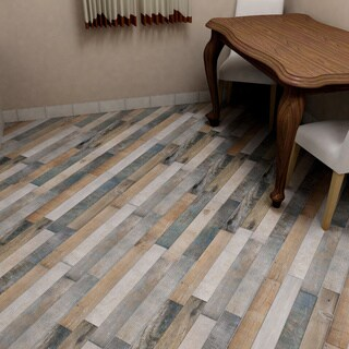 SomerTile 12.25x23.625-inch Trendy Rustico Porcelain Floor and Wall Tile (8 tiles/16.6 sqft.)